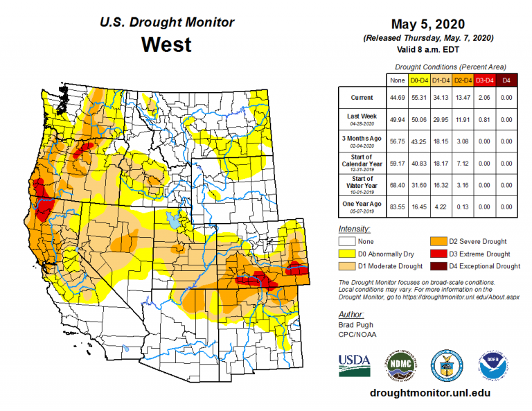 United States Drought Monitor Map Current Day